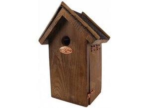 Antieke bruine vogelhuisjes voor de Pimpelmees kopen?