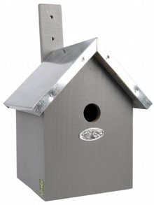 Modern gray Birdhouses (great for the blue tit, coal tit, crested tit or matkop)