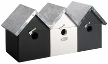 3 modern Birdhouses in a row, a real town house!