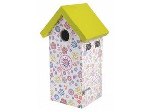 Vogelhuisje voor de pimpelmees met flower print kopen?