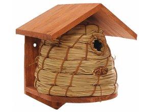 Bijenhuis nestkast (FSC gecertificeerd vurenhout en riet)