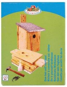 Zelfbouw Vogelhuisjes (om zelf in elkaar te timmeren) compleet met alle toebehoren