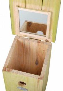 Observatie Vogelhuisje uitgevoerd met spiegel aan binnenzijde
