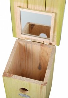 Observation Birdhouse made with mirror on inside