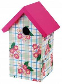 Vogelhuisje met theedoek print (geschikt voor de pimpelmees, zwarte mees, kuifmees en matkop)