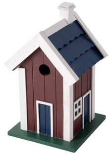 Luxe design vogelvilla in de kleur rood (FSC 100%)