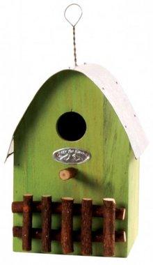 Design bird houses in green