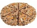 Vogelpizza gemaakt van verschillende soorten vogelzaad