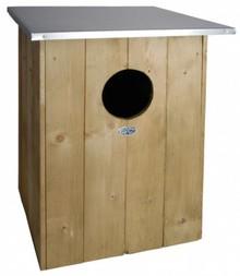 Bos uil nestkast! Een nestkast voor de bos uil (afmeting 47,5 x 47,5 x 59,7 cm)