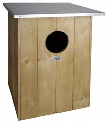 Tawny Owl nest box! A nest box for the Tawny Owl (dimensions 47.5 x 47.5 x 59.7 cm)