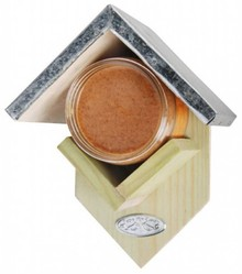 Pindakaashouders geschikt voor een pot pindakaas (voorzien van een zinken dakje, excl. pot pindakaas)