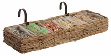 Special feeding basket for outdoor birds for the balcony (size 41.5 x 13.5 x 5.5 cm)