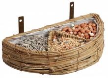 Muur-voeder-mand met verschillende vogelvoeders (afmeting 24 x 12 x 5 cm, inclusief vogelvoer)