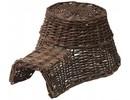 Hedgehog Nest! Special dark brown wicker basket Hedgehog for hedgehogs (size 18 x 10 x 23 cm)