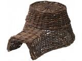 Erizo Nest! Mimbre especial marrón oscuro erizo para los erizos (tamaño 18 x 10 x 23 cm)