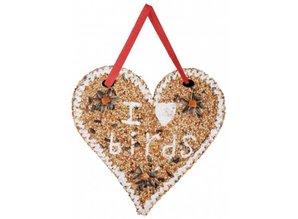 """Vogelzaad in hartvorm voorzien van de tekst """"I love Birds"""" kopen?"""