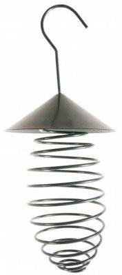 Handige veer met afdakje en ophanghaak voor buiten vogels (geschikt voor vetbollen en nestmateriaal)