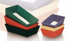 Colored corrugated cardboard gift boxes (size 330 x 190 x 110 mm)