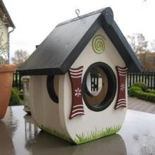 """Handgemaakte en handgeschilderde Vogelvoederhuizen! Vogelvoederhuisje """"Zo Heerlijk"""""""