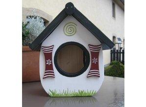 """Handgemaakte en handgeschilderde Vogelvoederhuizen! Hier kunt u Vogelvoederhuisje """"Zo Heerlijk"""" kopen!"""