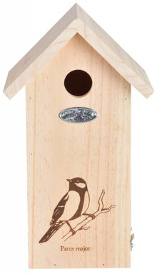 Great tit nest box silhouette (dimensions 17 x 14 x 30 cm)
