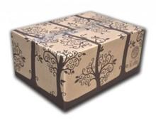 Luxe geschenkdozen met een print (afmeting 390 x 290 x 190 mm)