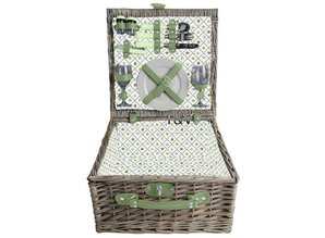 """Luxe picknickmanden """"Small Greeny"""" voor 2 personen!"""