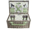 "Luxury picnic baskets ""Big Greeny"" for 4 persons (incl. Crockery and cutlery)"