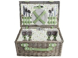"Luxury picnic baskets ""Big Greeny"" for 4 people!"