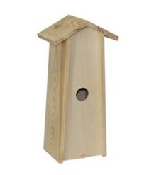 Blank houten Vogelhuis passend voor 1 fles wijn