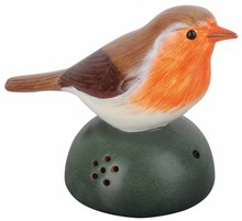 Decorative robin with chirp sound (with a motion detector and an on / off switch)