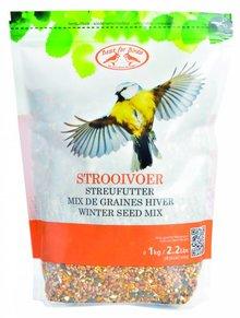Zak met winter strooivoer voor buiten vogels (inhoud 1 kg)