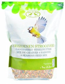 Bag 4 seasons scatter food for outdoor birds (1 kg capacity)