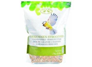 Bag 4 seasons scatter food for outdoor birds (1 kg capacity)