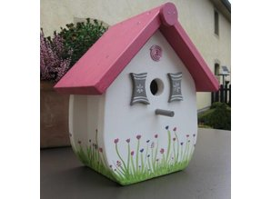 """Handgemaakte en handgeschilderde Vogelhuizen! Vogelhuis """"Zo Zoet"""" (handgemaaakt en met de hand geschilderd)"""