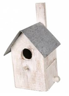 "Birdhouse ""nothing"" (with a zinc roof and a handy viewing door)"