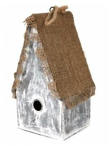 "Buy Cheap Birdhouses? Birdhouse ""Witch House"" (high model, made of zinc and jute)"