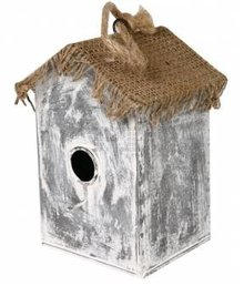 "Birdhouses cheap buy? Birdhouses ""Witch House"" (wide model, made of jute and zinc)"