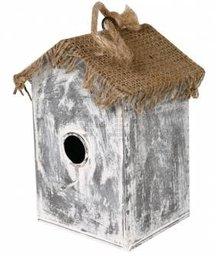 """Goedkope Vogelhuisjes kopen? Vogelhuisjes """"Heksenhuisje"""" (breed model, gemaakt van jute en zink)"""