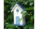 Luxury design villa bird in white with blue