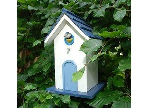 Luxury design villa bird in white with blue buy?
