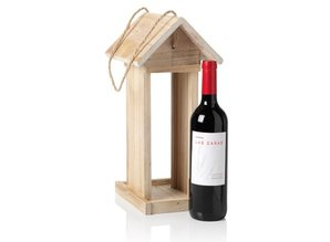 Bird Feeder suitable for a good bottle of red wine!