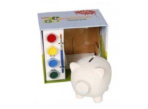 Spaarvarken (beschilderbaar) in luxe geschenkverpakking!