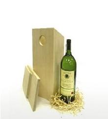 Blank houten Vogelhuisje passend voor 1 fles wijn