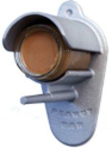 Zilverkleurige Peanutbar kopen? Peanutbar in de kleur zilver (aluminium pindakaashouder) voor een pot pindakaas (inclusief 1 pot pindakaas)