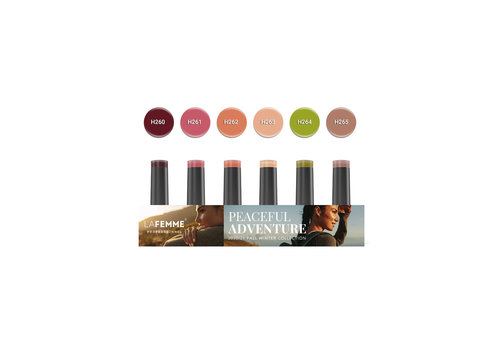 Gel Polish Collection |Peacefull Adventure collection |6 x 8 gr.|per set