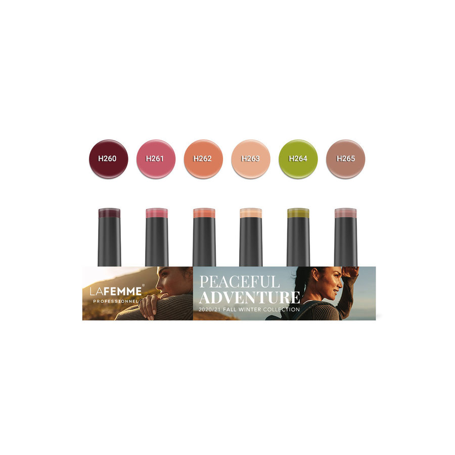 Gel Polish Collection |Peacefull Adventure collection |6 x 8 gr.|per set-1