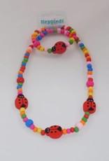 Heppiedi Ketting + Armband Lieveheersbeestje Multi Colour