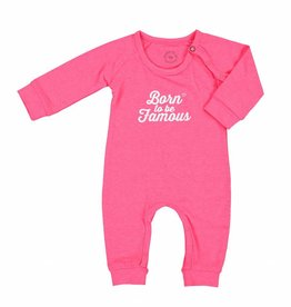 Born to be famous NB Baby One Piece Style - Pink