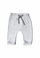 Born to be famous NB Baby Pants - White